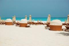 Spiaggia dell'albergo di lusso Fotografia Stock
