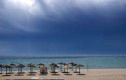 Spiaggia dell'ancona, Marbella Fotografie Stock