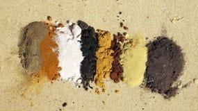 Spiaggia dell'arcobaleno, Queensland, Australia fotografie stock libere da diritti