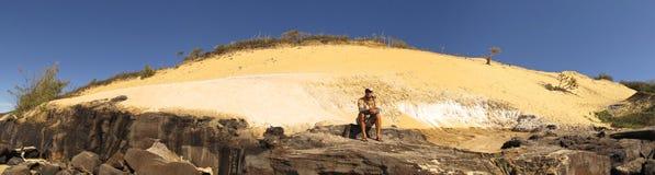 Spiaggia dell'arcobaleno, Queensland, Australia immagine stock libera da diritti