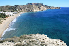 Spiaggia dell'armada del Agua, Spagna Fotografia Stock Libera da Diritti