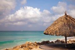 Spiaggia dell'Aruba Fotografia Stock