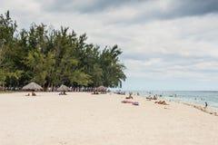 Spiaggia dell'en Flac di Flic, Mauritius Fotografia Stock