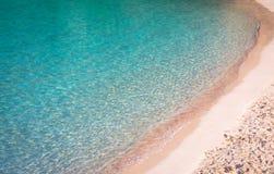 Spiaggia dell'en Turqueta Turqueta di Cala in Menorca, Spagna fotografie stock libere da diritti