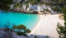 Spiaggia dell'en Turqueta Turqueta di Cala in Menorca, Spagna immagini stock