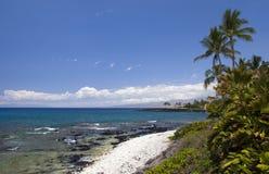 Spiaggia dell'Hawai Kona Fotografie Stock Libere da Diritti