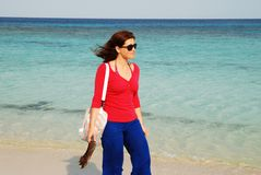 Spiaggia dell'Honduras Fotografia Stock Libera da Diritti