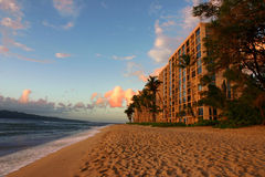 Spiaggia dell'hotel Fotografie Stock