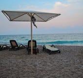 Spiaggia dell'hotel Fotografia Stock