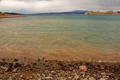Spiaggia dell'idromele del lago Immagine Stock