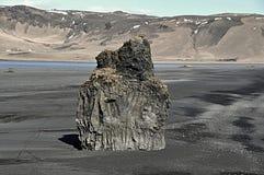 Spiaggia dell'Islanda Dyrholaey Immagini Stock Libere da Diritti
