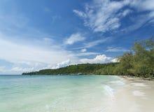 Spiaggia dell'isola del rong del KOH in Cambogia Fotografie Stock Libere da Diritti