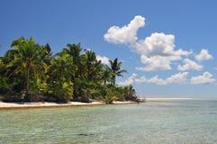 Spiaggia dell'isola di Aitutaki Fotografia Stock Libera da Diritti