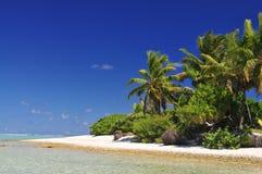 Spiaggia dell'isola di Aitutaki Immagini Stock