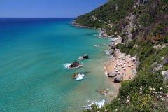 Spiaggia dell'isola di Corfù fotografia stock