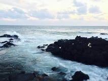 Spiaggia dell'isola di Jeju Fotografia Stock Libera da Diritti