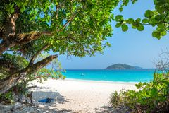 Spiaggia dell'isola di Similan Koh Miang in parco nazionale, Tailandia Fotografia Stock Libera da Diritti