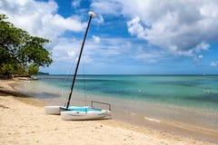 Spiaggia dell'isolotto di Gros, Santa Lucia Immagini Stock