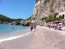 Spiaggia dell'Italia Liguria Varigotti Immagini Stock Libere da Diritti