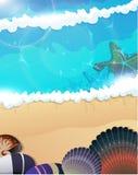 Spiaggia dell'oceano Immagine Stock