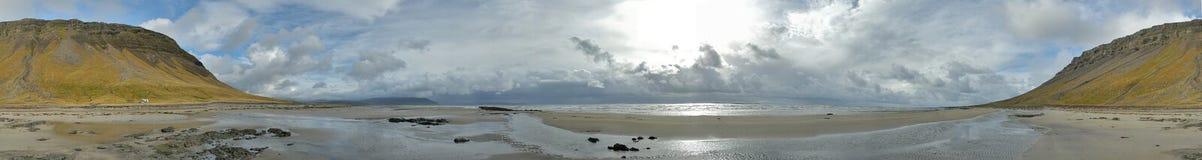 Spiaggia dell'oceano artico Immagini Stock Libere da Diritti