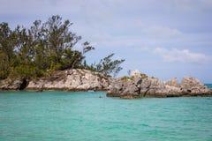 Spiaggia dell'oceano delle Bermude Fotografia Stock