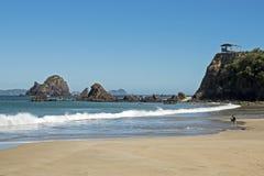 Spiaggia dell'Oceano Pacifico nel Messico Fotografia Stock