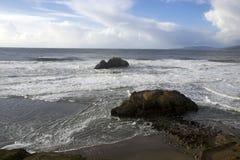 Spiaggia dell'oceano, San Francisco California Fotografia Stock Libera da Diritti
