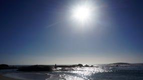 Spiaggia della baia dei campi Fotografie Stock Libere da Diritti