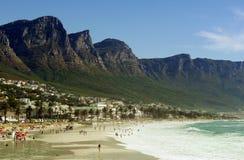 Spiaggia della baia dei campi, Città del Capo Fotografie Stock Libere da Diritti