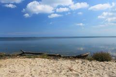 Spiaggia della baia del disco, Polonia fotografie stock libere da diritti