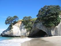 Spiaggia della baia della cattedrale, Nuova Zelanda Immagine Stock Libera da Diritti
