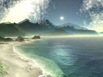 Spiaggia della baia dello zucchero illustrazione vettoriale