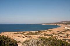 Spiaggia della baia di Lara in Cipro Fotografie Stock Libere da Diritti