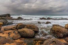Spiaggia della baia di Thompsons Fotografia Stock