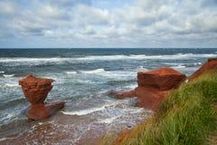 Spiaggia della baia di tuono in PEI nel Canada Fotografia Stock