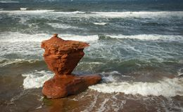 Spiaggia della baia di tuono in PEI nel Canada Immagini Stock