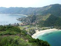 Spiaggia della baia e spiaggia dell'oceano fotografia stock libera da diritti
