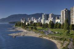 Spiaggia della baia e West End inglesi, Vancouver BC Immagini Stock Libere da Diritti