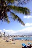 Spiaggia della città fotografia stock