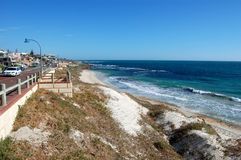 Spiaggia della città Immagini Stock