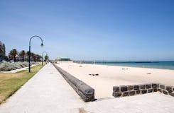 Spiaggia della città di Melbourne Immagini Stock