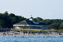 Spiaggia della città di Narragansett Immagine Stock Libera da Diritti