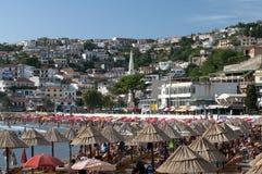 Spiaggia della città di Ulcinj fotografia stock