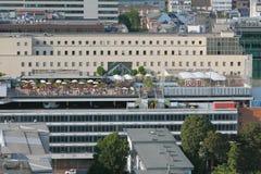 Spiaggia della città sul tetto della costruzione Francoforte sul Meno, Germania Immagine Stock