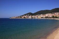 Spiaggia della citt? di Aiaccio Immagini Stock