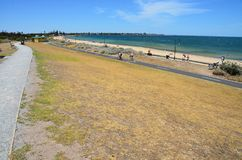 Spiaggia della spiaggia con una vista Fotografie Stock