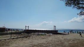 Spiaggia della costa di mare di Canakkale Fotografie Stock Libere da Diritti