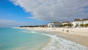 Spiaggia della costa nel Messico Fotografia Stock