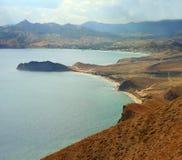 Spiaggia della Crimea Fotografie Stock